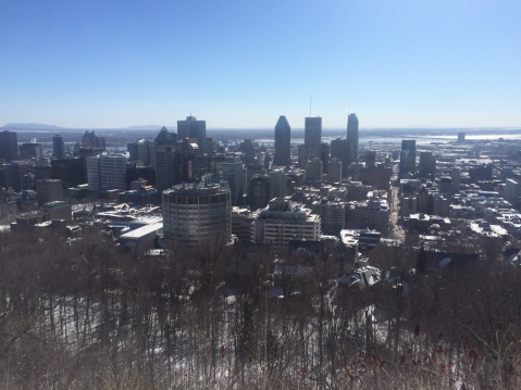 The view over Montreal