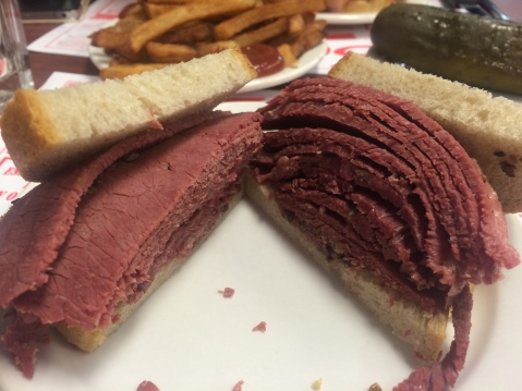 Montreal Smoked Meat Sandwich - amazing!