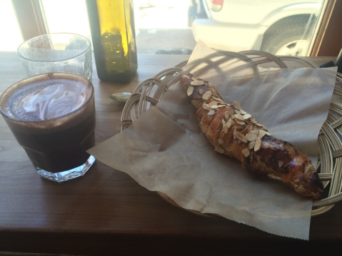 Meal #2 - Almond croissant and another delicious mocha