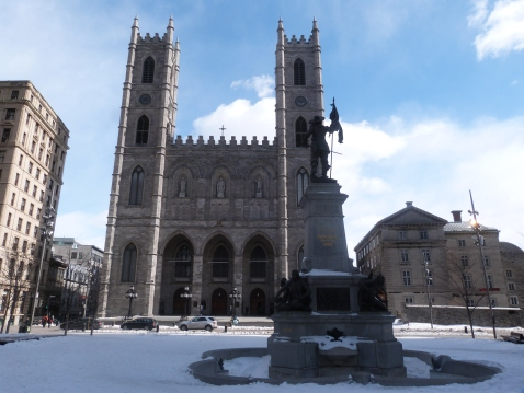 The Notre Dame Basilica from the Place D'Armes