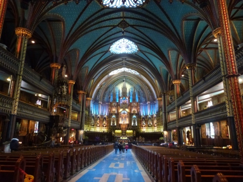 Inside the beautiful Basilica